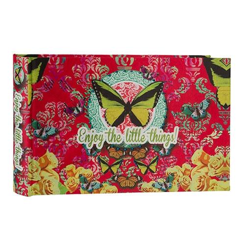 Álbum de Fotos Butterfly Pink em Madeira - 36x24 cm