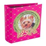 Álbum de Fotos Cachorro Yorkshire em Madeira - 18x14 cm