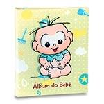 Álbum do Bebê Cebolinha Fundo Verde - 60 Fotos 15x21 cm