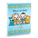 Álbum do Bebê Cebolinha e Cascão Azul - 40 Fotos 13x18 cm