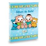 Álbum do Bebê Cebolinha e Cascão Azul - 60 Fotos 15x21 cm