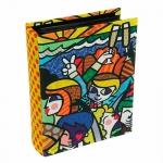 Álbum de Fotos Celebration - Romero Britto - em Tecido - 23x18 cm
