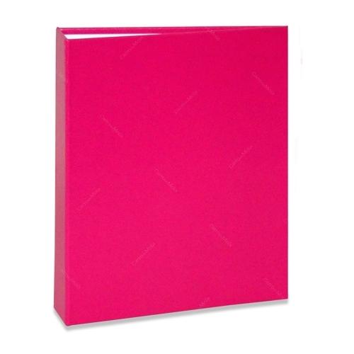 Álbum de Fotos Cores - 240 Fotos 10x15 cm - Rosa - 24,2x18,1 cm