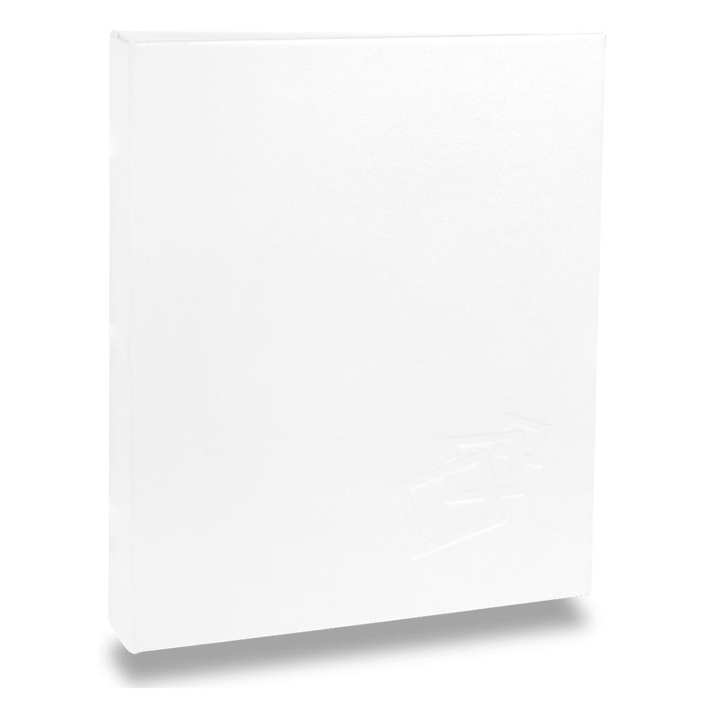 Álbum de Fotos Cores - 40 Fotos 20x25 cm - Branco - 22,6x17,2 cm
