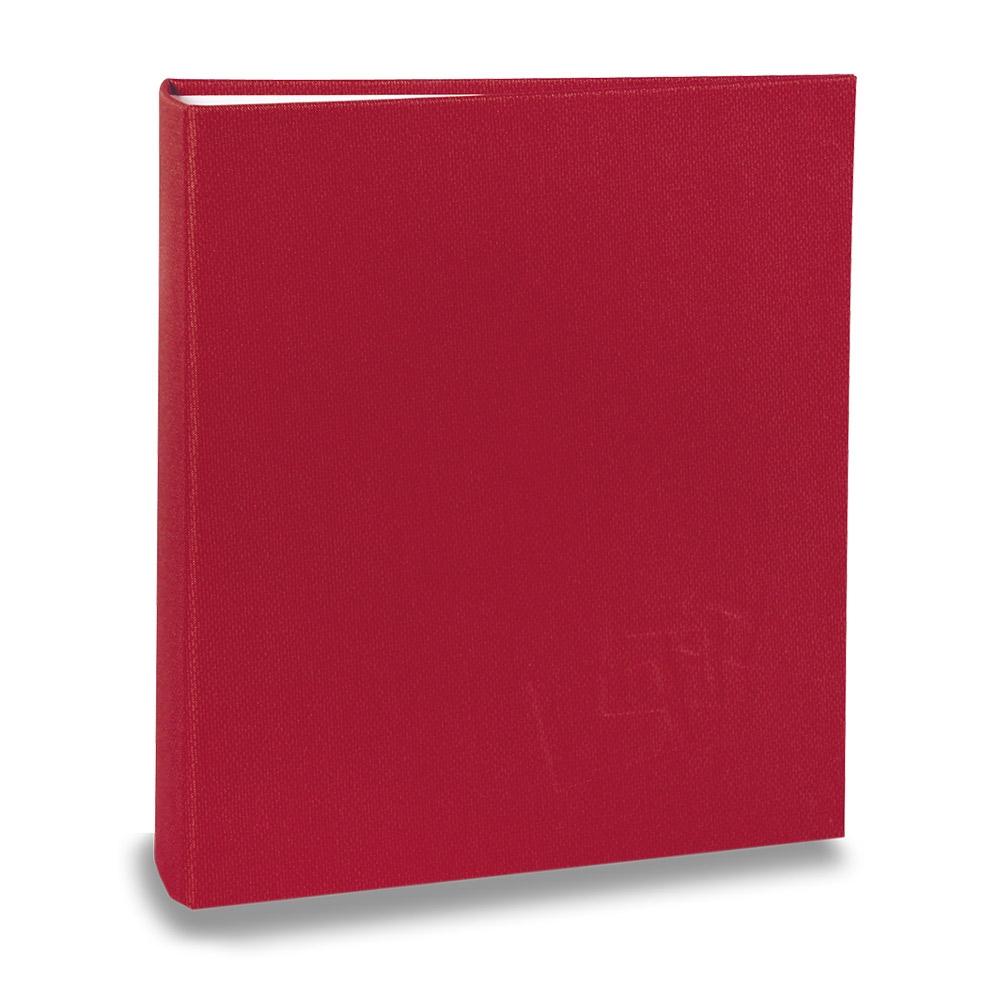 Álbum de Fotos Cores - 40 Fotos 20x25 cm - Vermelho - 22,6x17,2 cm
