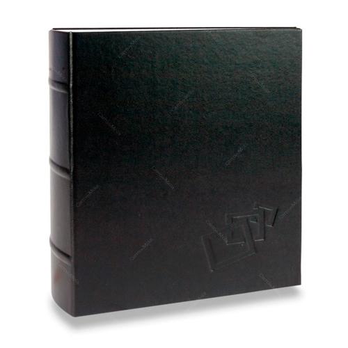 Álbum de Fotos Cores - 400 Fotos 10x15 cm - Preto - 24,8x24,7 cm