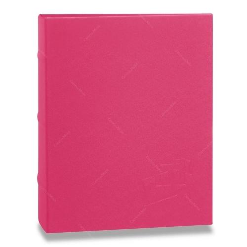 Álbum de Fotos Cores - 400 Fotos 10x15 cm - Rosa - 24,8x24,7 cm