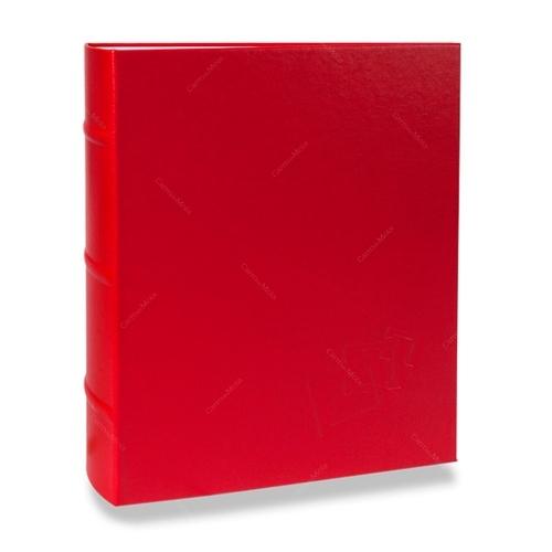 Álbum de Fotos Cores - 400 Fotos 10x15 cm - Vermelho - 24,8x24,7 cm