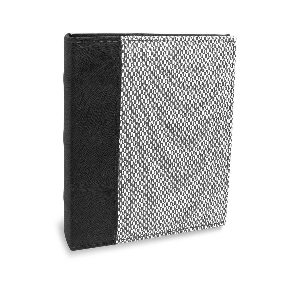 Álbum de Fotos Costurados Quadradinhos - 100 Fotos 15x21 cm - Preto e Branco - 25,2x22 cm