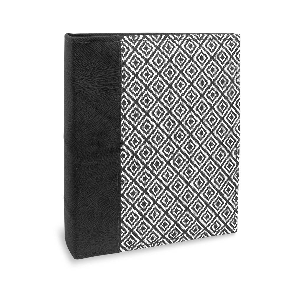 Álbum de Fotos Costurados Quadrados - 200 Fotos 13x18 cm - Preto e Branco - 25,2x22 cm
