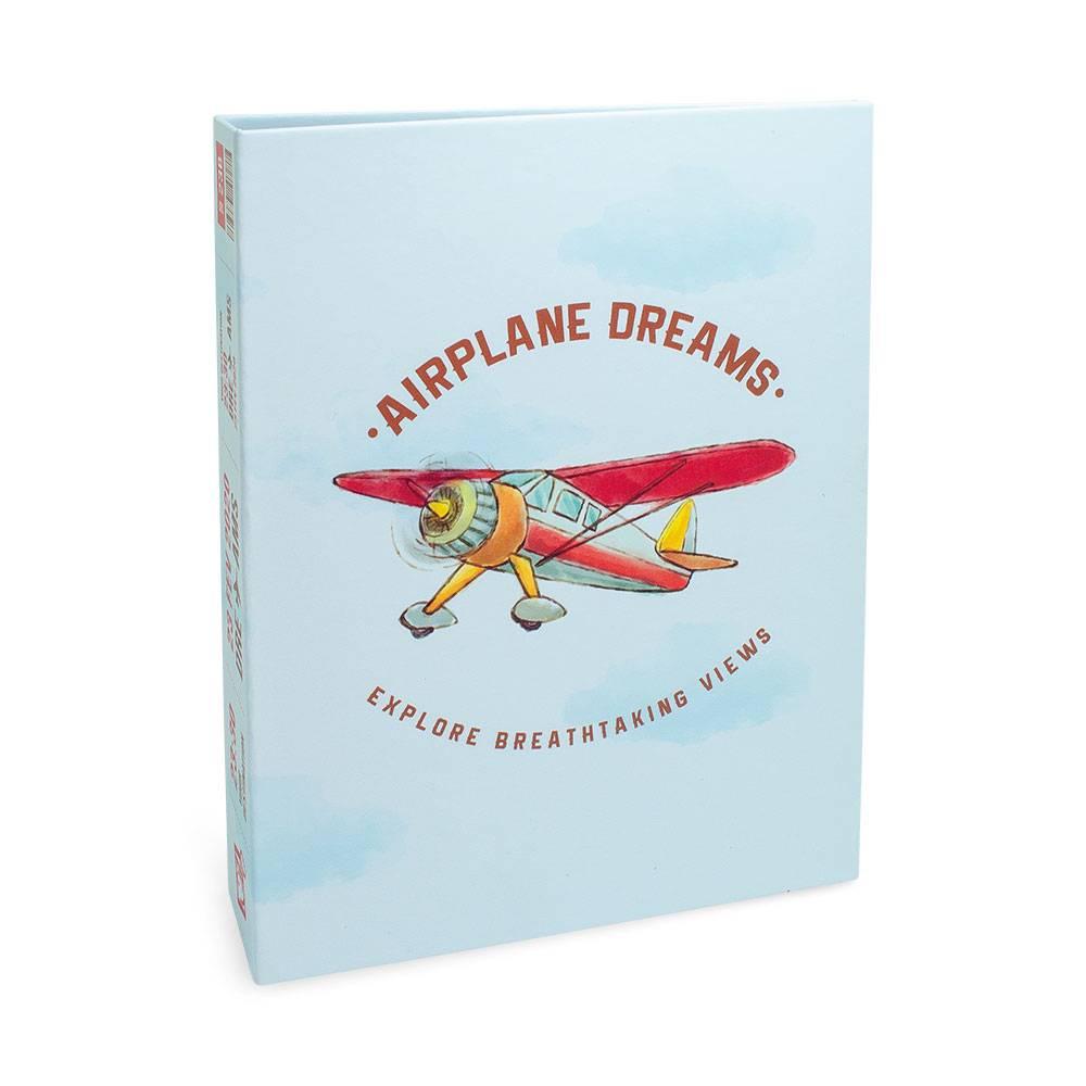 Álbum de Fotos Criativa Airplane Dreams - 160 Fotos 10x15 cm - Azul - 23.2x18.4 cm