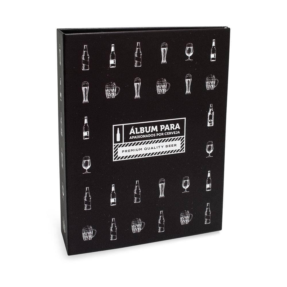 Álbum de Fotos Criativa Apaixonados por Cerveja - 80 Fotos 15x21 cm - Preto - 23.2x18.4 cm