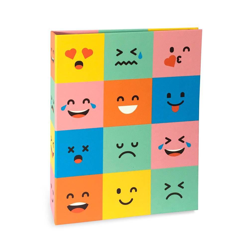 Álbum de Fotos Criativa Emoticons - 80 Fotos 15x21cm - Multicolorido - 23.2x18.4 cm
