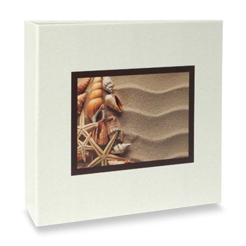 Álbum de Fotos Elementos - 100 Fotos 15x21 cm - Conchas e Areia - 24,5x23 cm