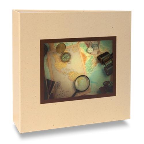 Álbum de Fotos Elementos - 100 Fotos 15x21 cm - Mapas - 24,5x23 cm