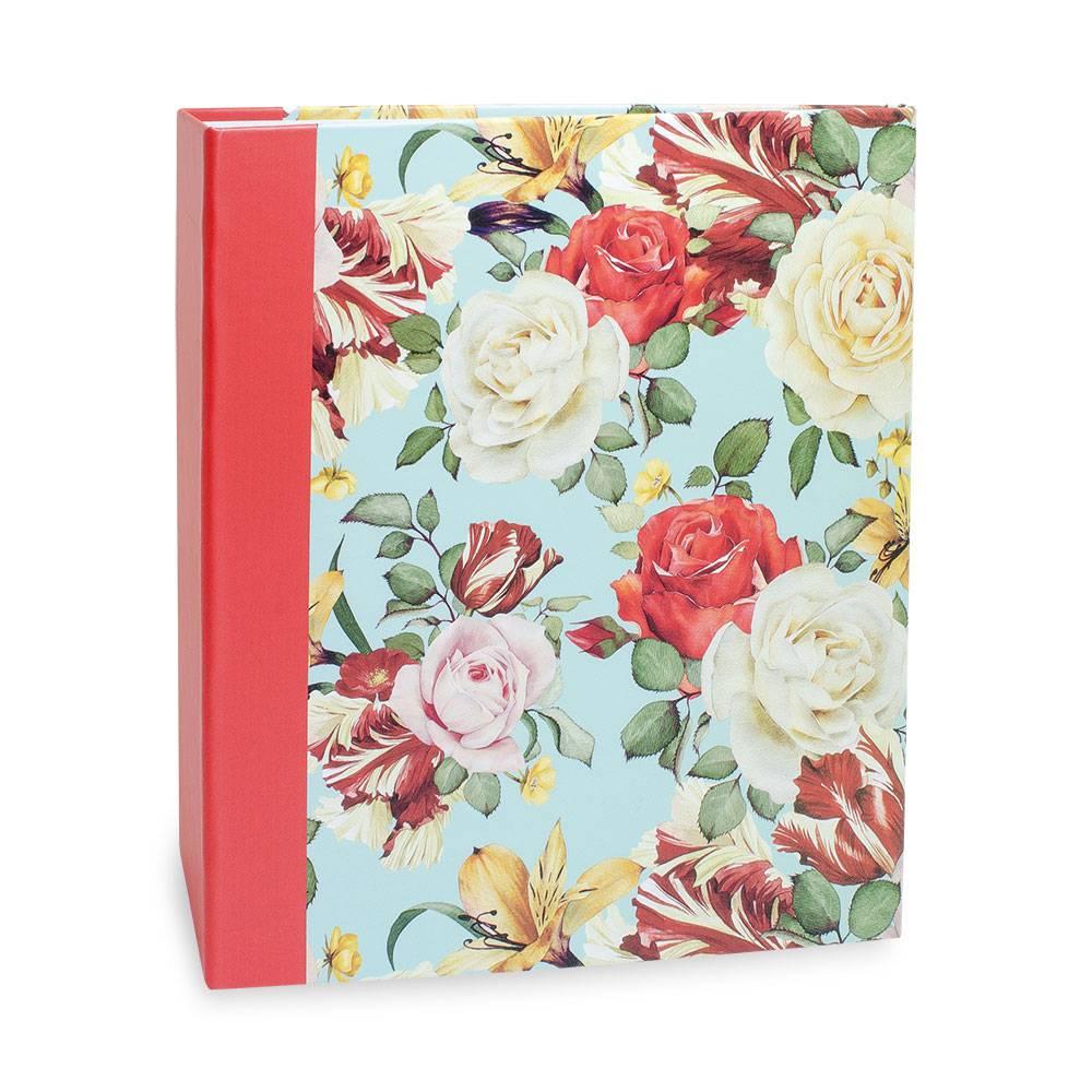 Álbum de Fotos Floral - 100 Fotos 15x21 cm - Flores - 23,3x22 cm