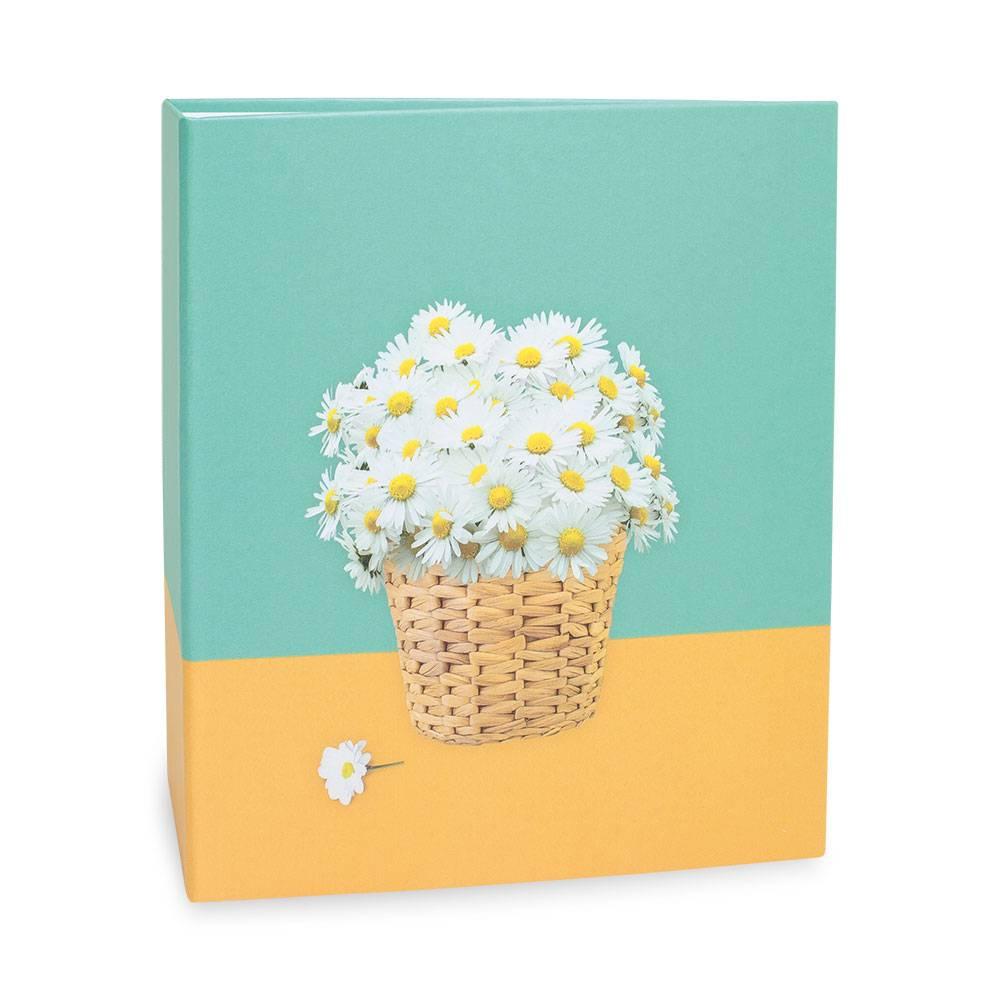 Álbum de Fotos Floral - 100 Fotos 15x21 cm - Margaridas - 23,3x22 cm