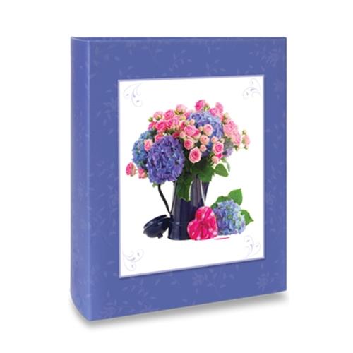 Álbum de Fotos Floral - 240 Fotos 10x15 cm - Flores Diversas - 24,2x18,1 cm