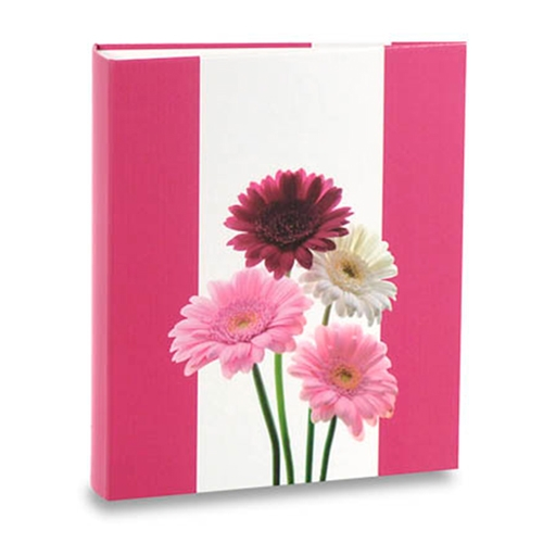 Álbum de Fotos Floral - 240 Fotos 10x15 cm - Flores Rosas - 24,2x18,1 cm
