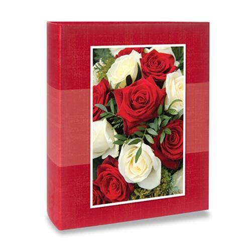 Álbum de Fotos Floral - 240 Fotos 10x15 cm - Rosas - 24,2x18,1 cm