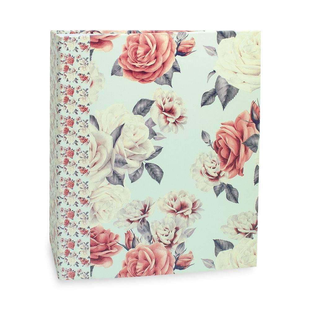 Álbum de Fotos Floral Rosas - 200 Fotos 10x15 cm - 24,8x21,6cm