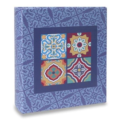 Álbum de Fotos Formas - 300 Fotos 10x15 cm - Azulejo Português - 24,8x21,6 cm