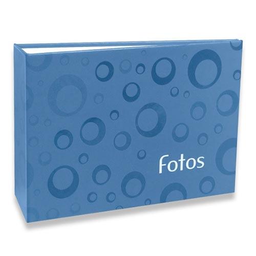 Álbum de Fotos Geométrico - 60 Fotos 10x15 cm - Azul - 18x12,4 cm