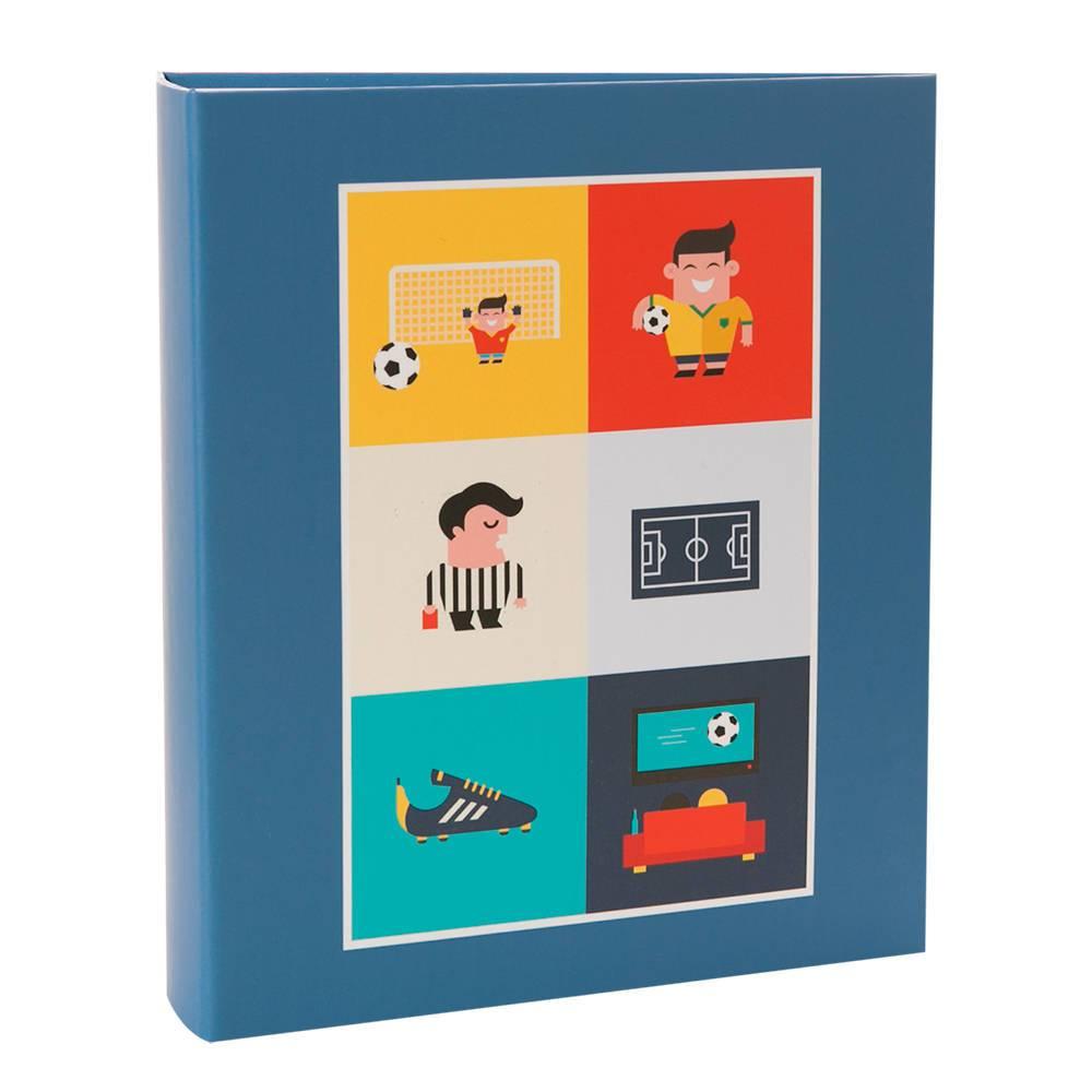 Álbum de Fotos Infantil Futebol - 200 Fotos 13x18 cm - com Ferragem - 31x25 cm