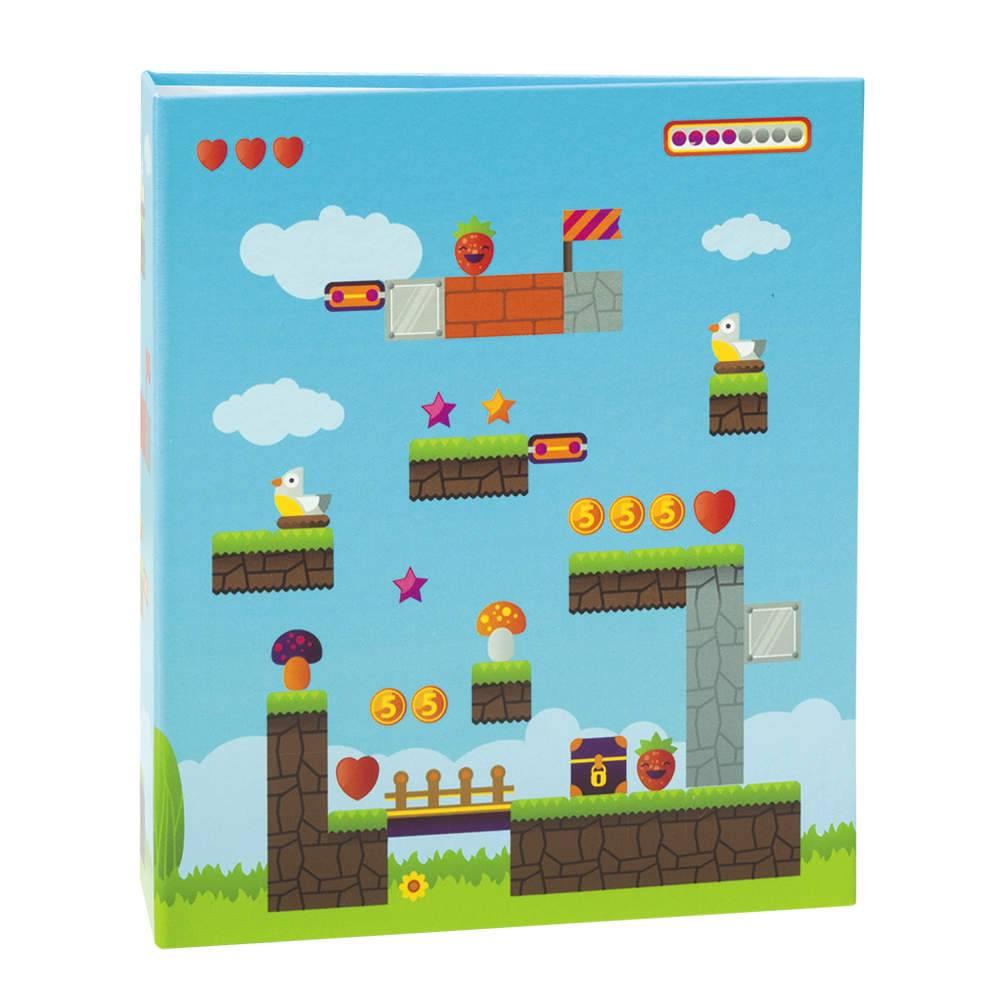 Álbum de Fotos Infantil Game - 100 Fotos 15x21 cm - com Ferragem - 23,3x22 cm