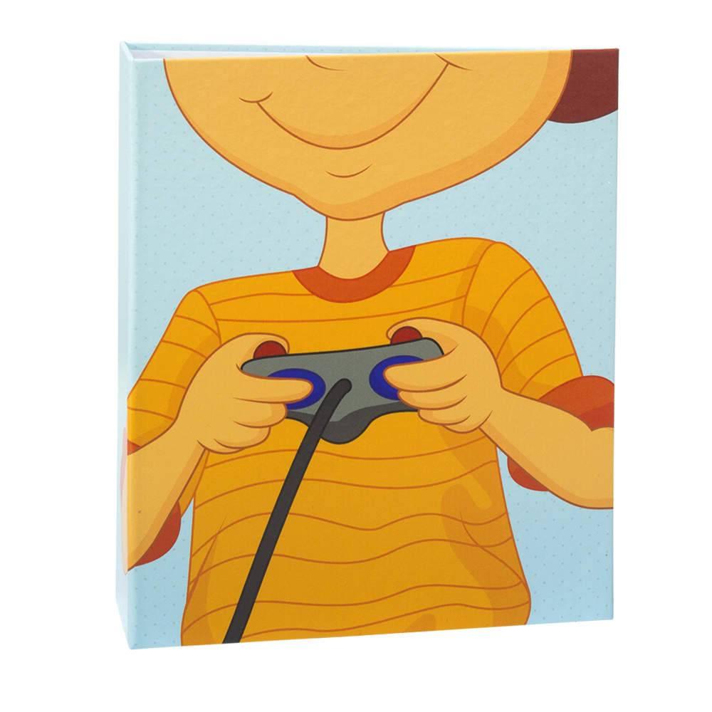 Álbum de Fotos Infantil Game Lover - 400 Fotos 10x15 cm - com Ferragem - 24,8x24,7 cm
