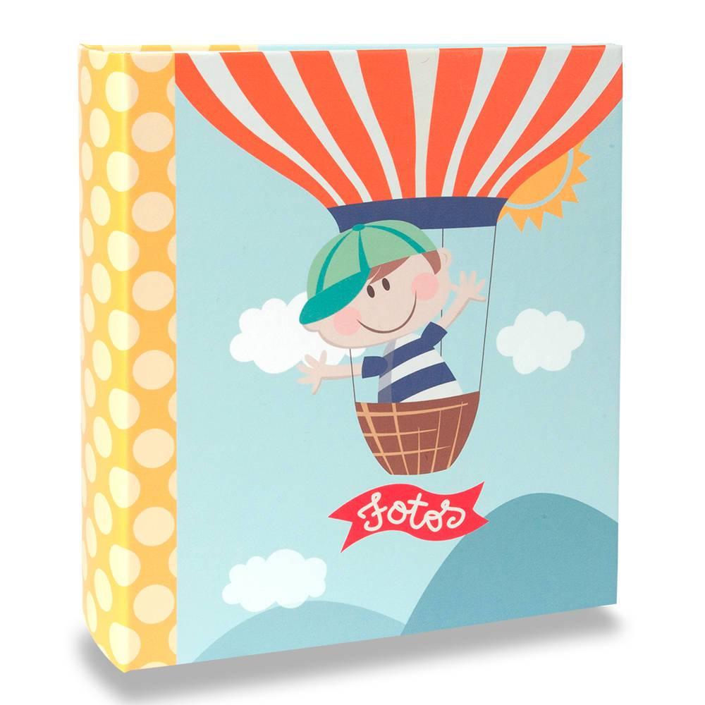 Álbum de Fotos Infantil Happy Boy - 200 Fotos 13x18 cm - com Ferragem - 31x25 cm