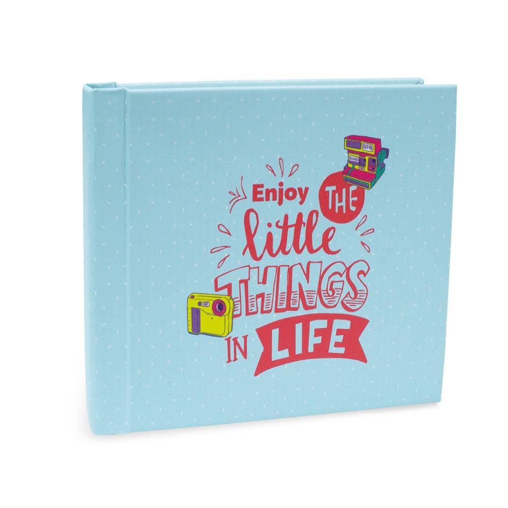 Álbum de Fotos Insta Lovers Life - 24 Fotos Mini Ou 12 Fotos Wide - Azul - 13,5x11,2 cm