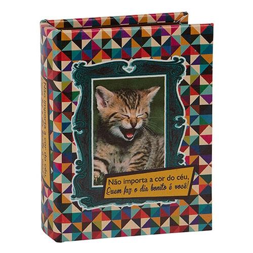 Álbum de Fotos Kitten Céu 90 Fotos 10x15 cm em Madeira - 18x14 cm