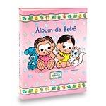 Álbum do Bebê Magali e Mônica Rosa - 60 Fotos 15x21 cm