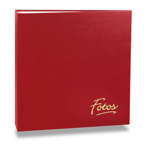 Álbum de Fotos Mega - 500 Fotos 10x15 cm - Vermelho - 35x33,5 cm
