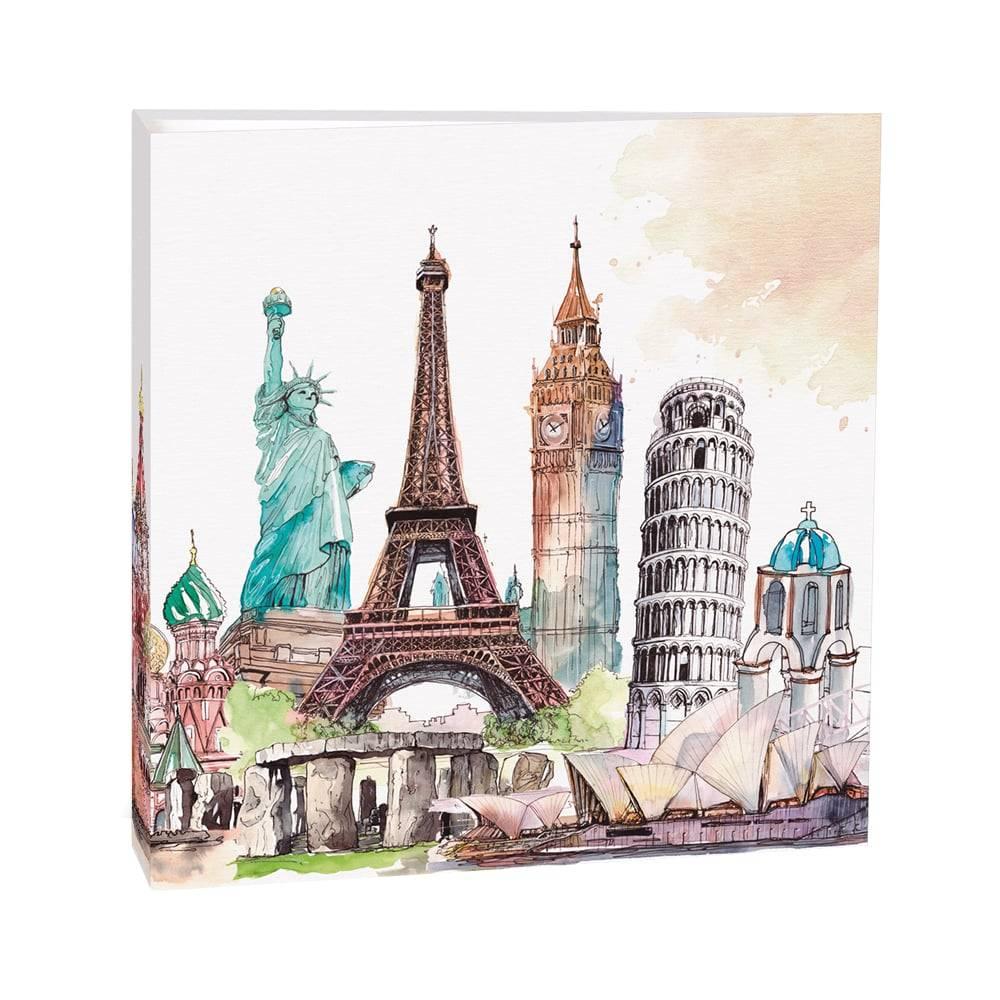 Álbum de Fotos Mega Monumentos - 500 Fotos 10x15 cm - Multicolorido - 35x33,5 cm
