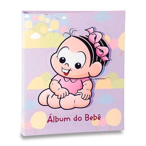 Álbum do Bebê Mônica Fundo Lilás - 40 Fotos 13x18 cm - 25x20,5 cm