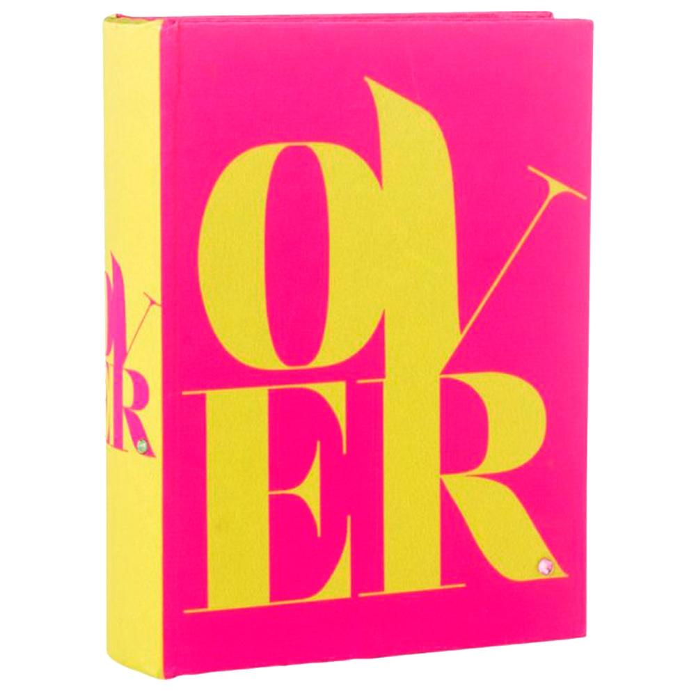 Álbum de Fotos Over - Rosa/Amarelo em Eucatex - 18x13 cm
