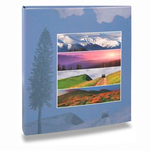 Álbum de Fotos Paisagem - 400 Fotos 10x15 cm - Montanhas - 24,8x24,7 cm