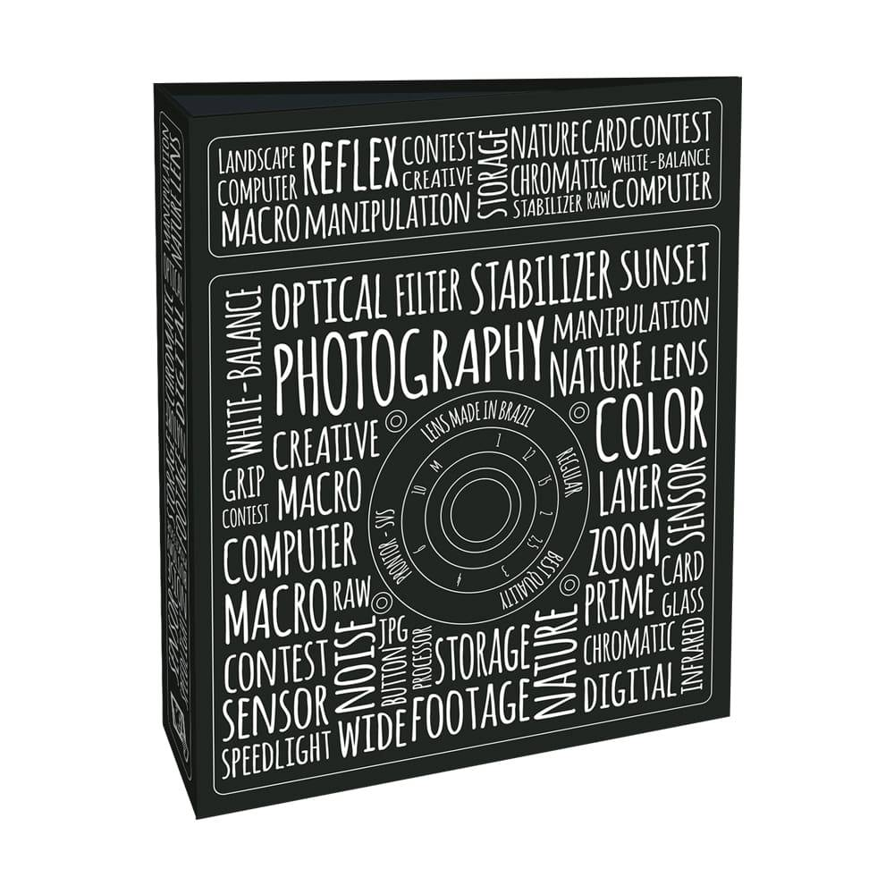 Álbum de Fotos Photography - 80 Fotos 15x21 cm - Preto e Branco - 23x18,4 cm