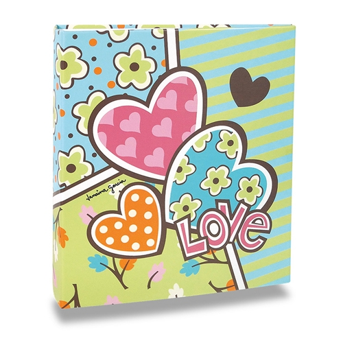 Álbum de Fotos Pop - 300 Fotos 10x15 cm - Corações - 24,8x22,6 cm
