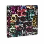 Álbum de Fotos Scrap Câmeras - 15 Folhas - Livre Colagem - 23x23 cm
