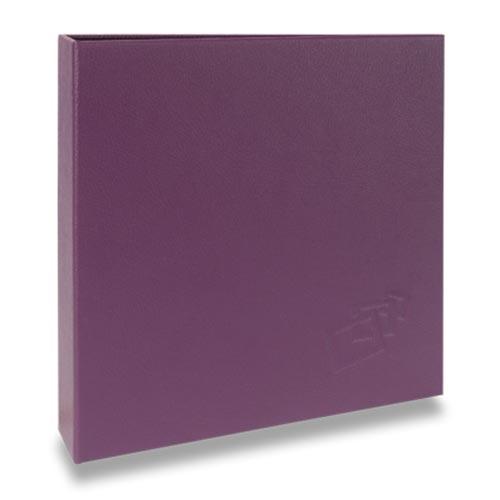 Álbum de Fotos Scrap Roxo - 15 Folhas - Livre Colagem - 23x23 cm