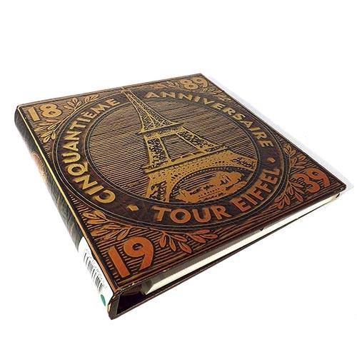 Álbum de Fotos Autocolante - 30 Páginas - 50 Anos Torre Eiffel Oldway - 34x34 cm