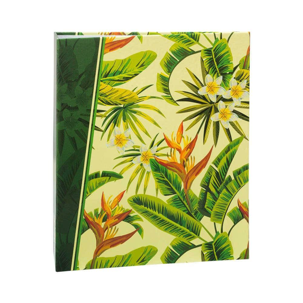 Álbum de Fotos Tropical - 400 Fotos 10x15 cm - Verde com Ferragem - 24,8x24,7 cm