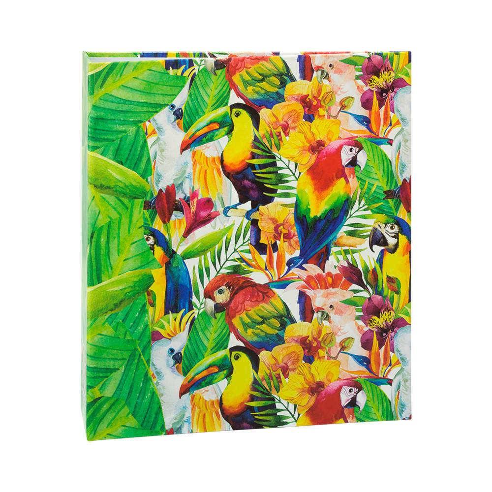 Álbum de Fotos Tropical Aves - 400 Fotos 10x15 cm - com Ferragem - 24,8x24,7 cm