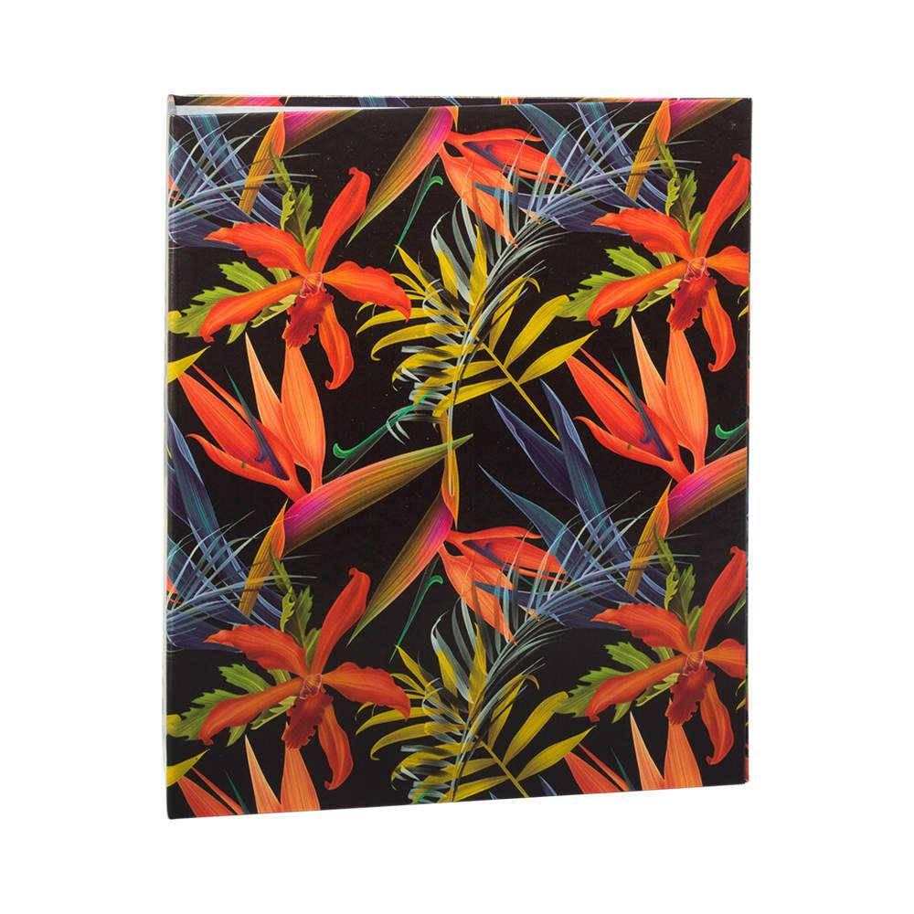 Álbum de Fotos Tropical Estrelícias - 100 Fotos 15x21 cm - com Ferragem - 23,3x22 cm