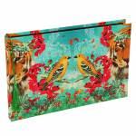 Álbum de Fotos Tropical Pássaro em Tecido - 35x24 cm