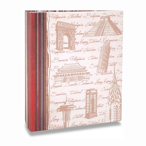 Álbum de Fotos Viagem - 100 Fotos 15x21 cm - Monumentos - 23,3x22 cm
