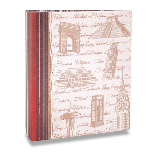 Álbum de Fotos Viagem - 200 Fotos 10x15 cm - Monumentos - 24,8x21,6 cm